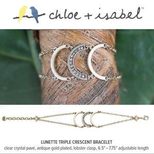 🆕 Lunette Triple Crescent Bracelet c+i B259